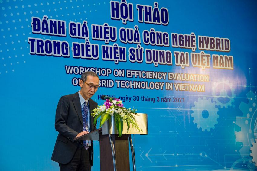 Ông Hiroyuki Ueda Tổng Giám đốc Công ty Ô tô Toyota Việt Nam phát biểu