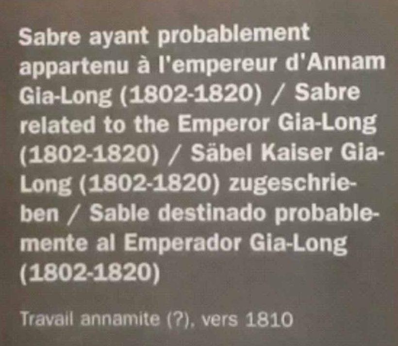 Chuyện về thanh kiếm của vua Gia Long tại bảo tàng ở Paris - 4