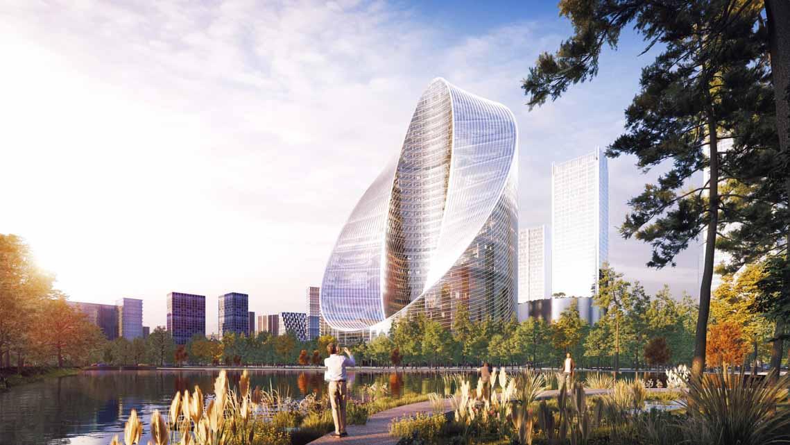 Tòa nhà văn phòng ở Hàng Châu là biểu tượng cho triết lý thiết kế của OPPO - 4
