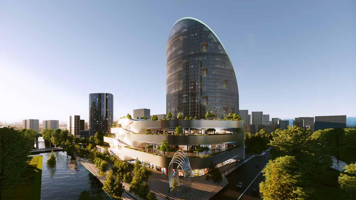 Tòa nhà văn phòng ở Hàng Châu là biểu tượng cho triết lý thiết kế của OPPO - 9
