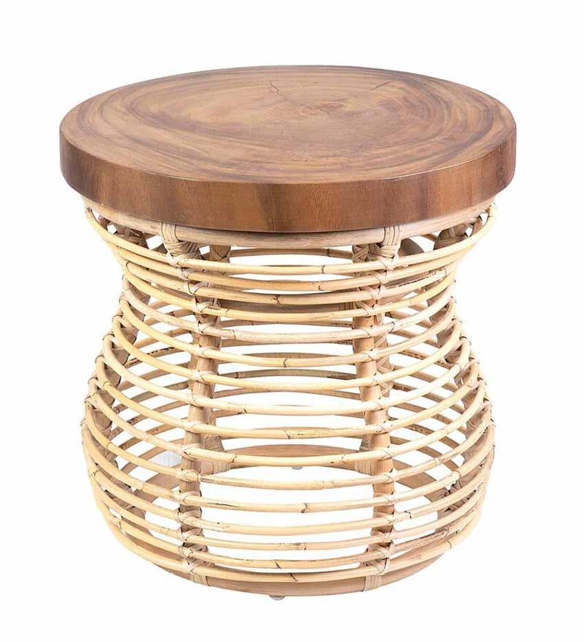 Chiếc bàn nhỏ kết hợp mây và gỗ - 2