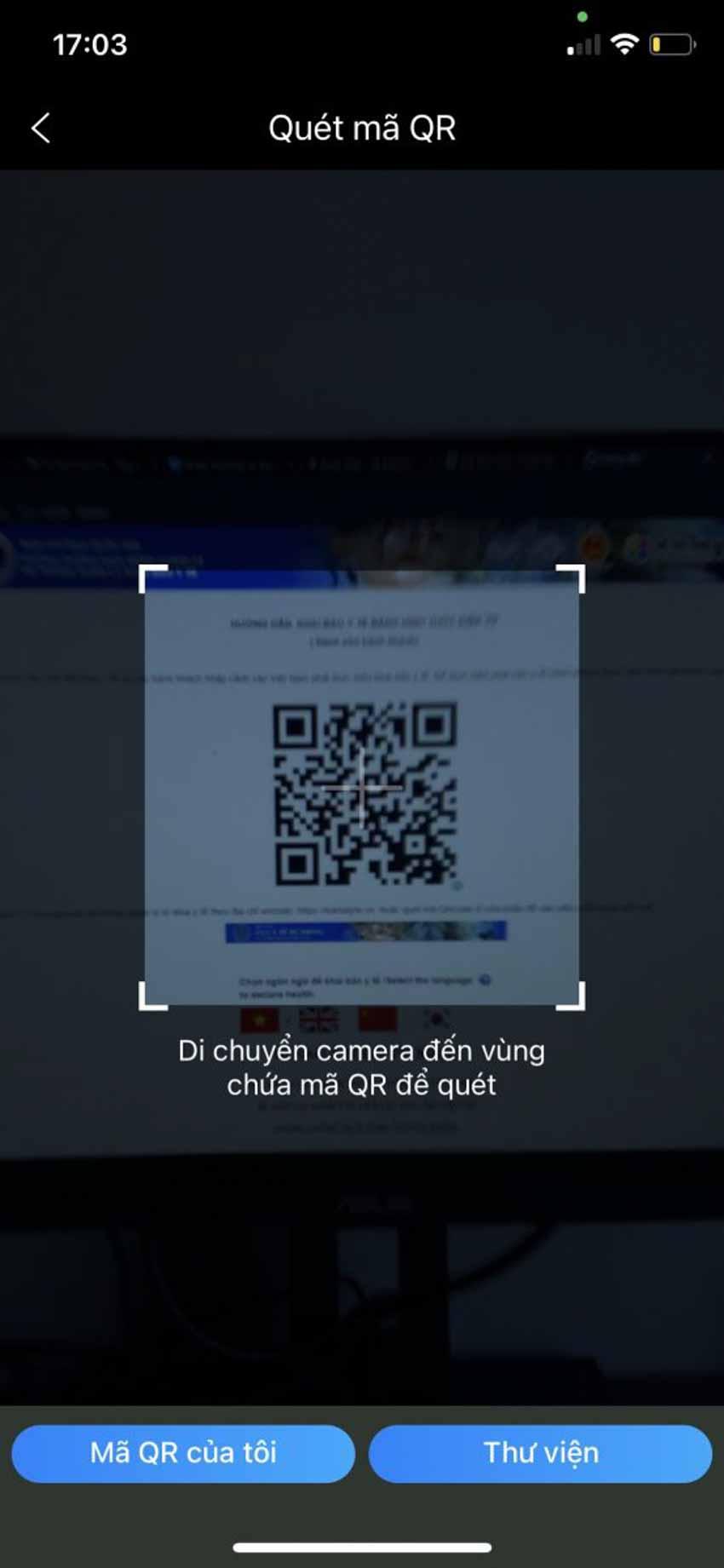 Hướng dẫn khai báo y tế trực tuyến bằng cách quét mã QR với ứng dụng Zalo - 2