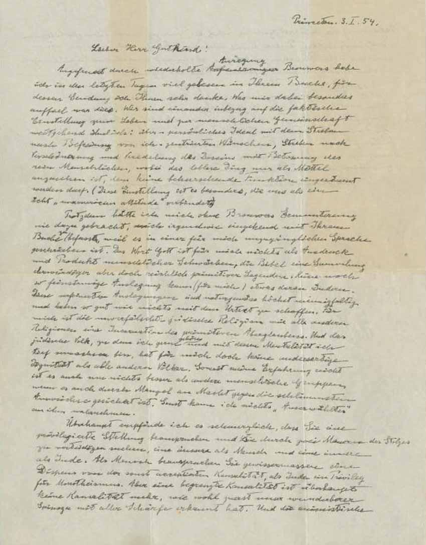 'Bức thư về Chúa' của Albert Einstein - 2