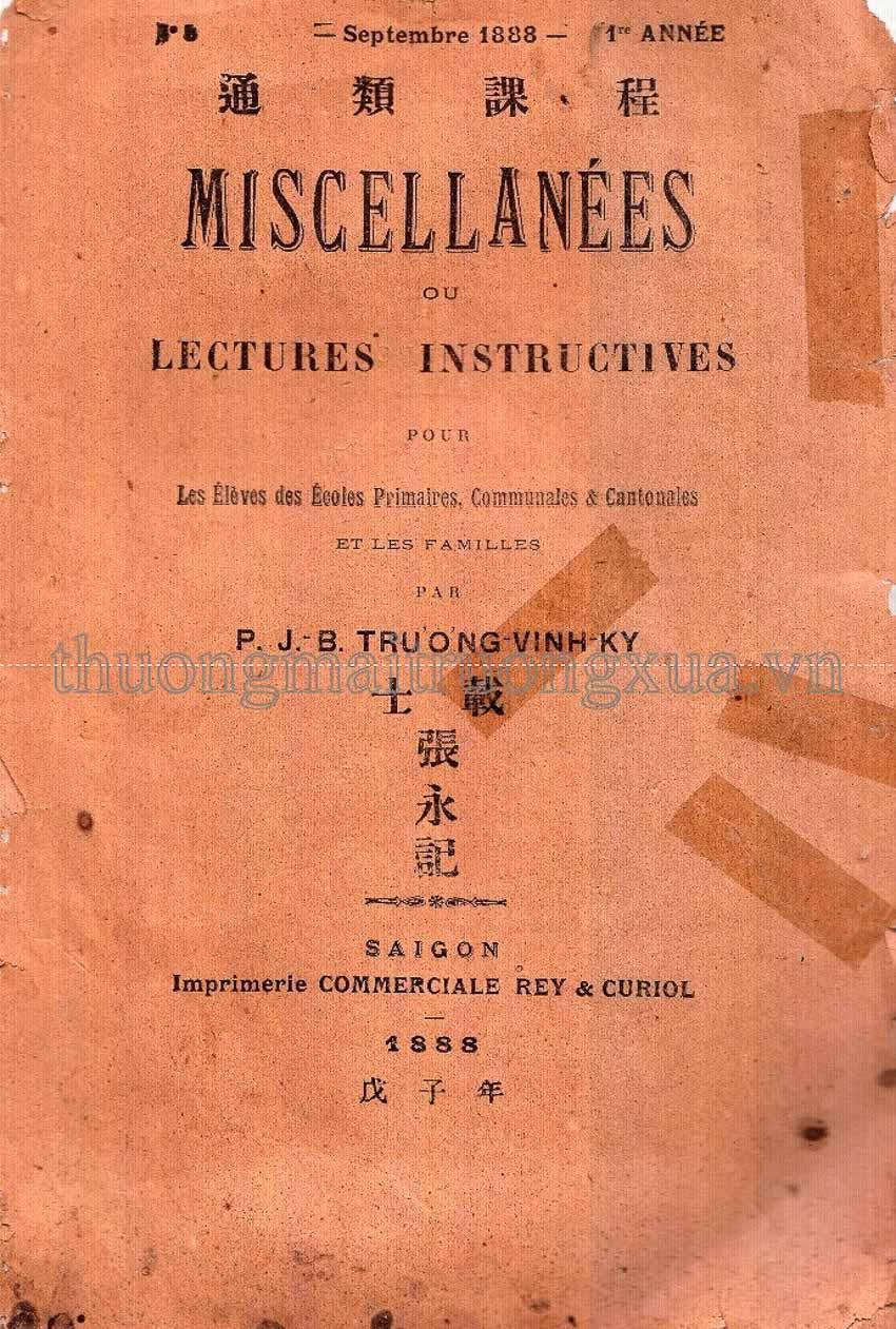 Xuất bản ở Nam bộ giai đoạn cuối thế kỷ XIX - đầu thế kỷ XX - 1
