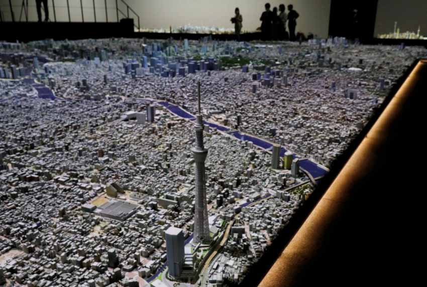 Ngỡ ngàng với mô hình thành phố Tokyo thu nhỏ tỷ lệ 1:1000 cực kỳ chi tiết được làm hoàn toàn bằng tay - 3