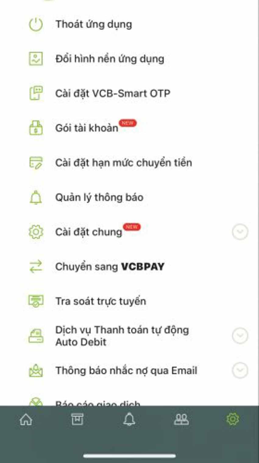 Hướng dẫn cách đổi hạn mức chuyển tiền Vietcombank - 2