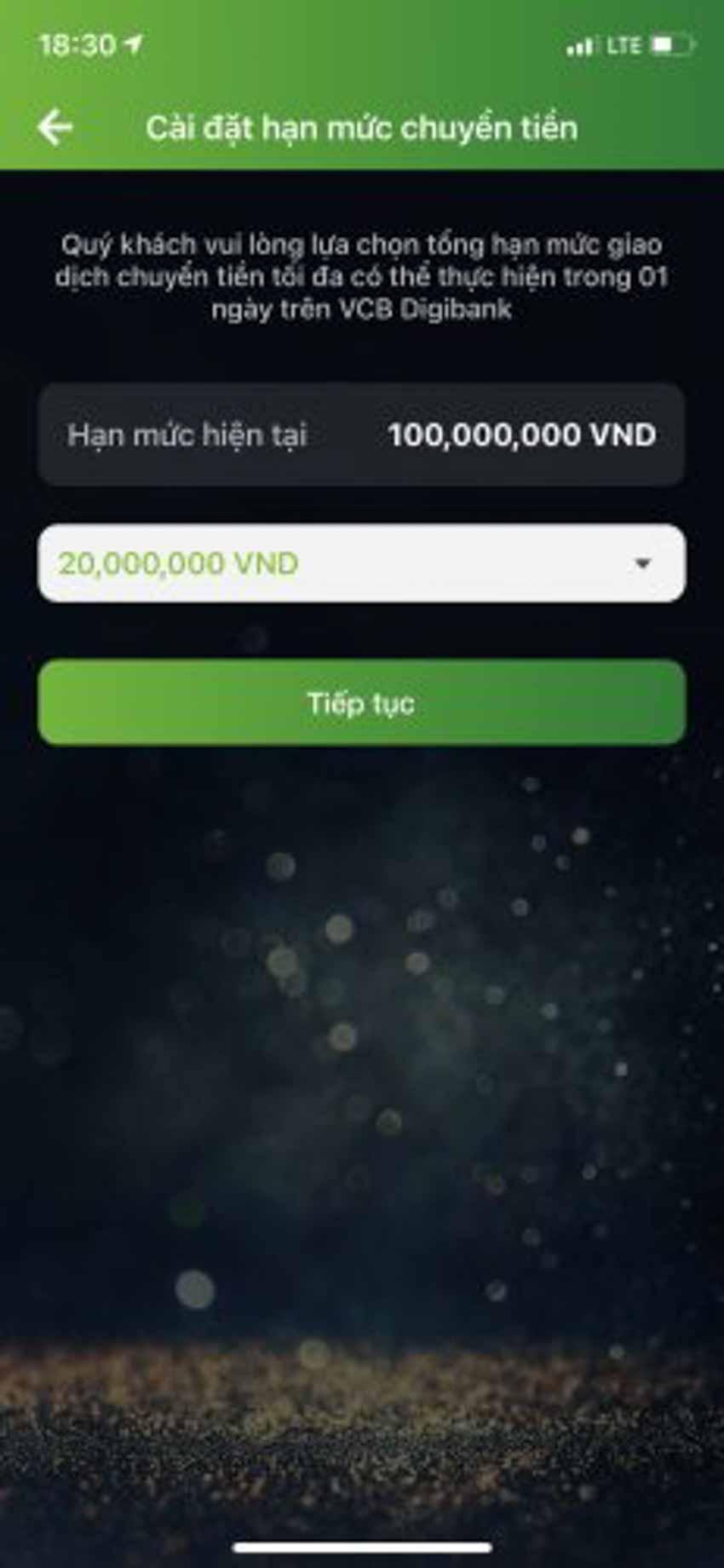 Hướng dẫn cách đổi hạn mức chuyển tiền Vietcombank - 3