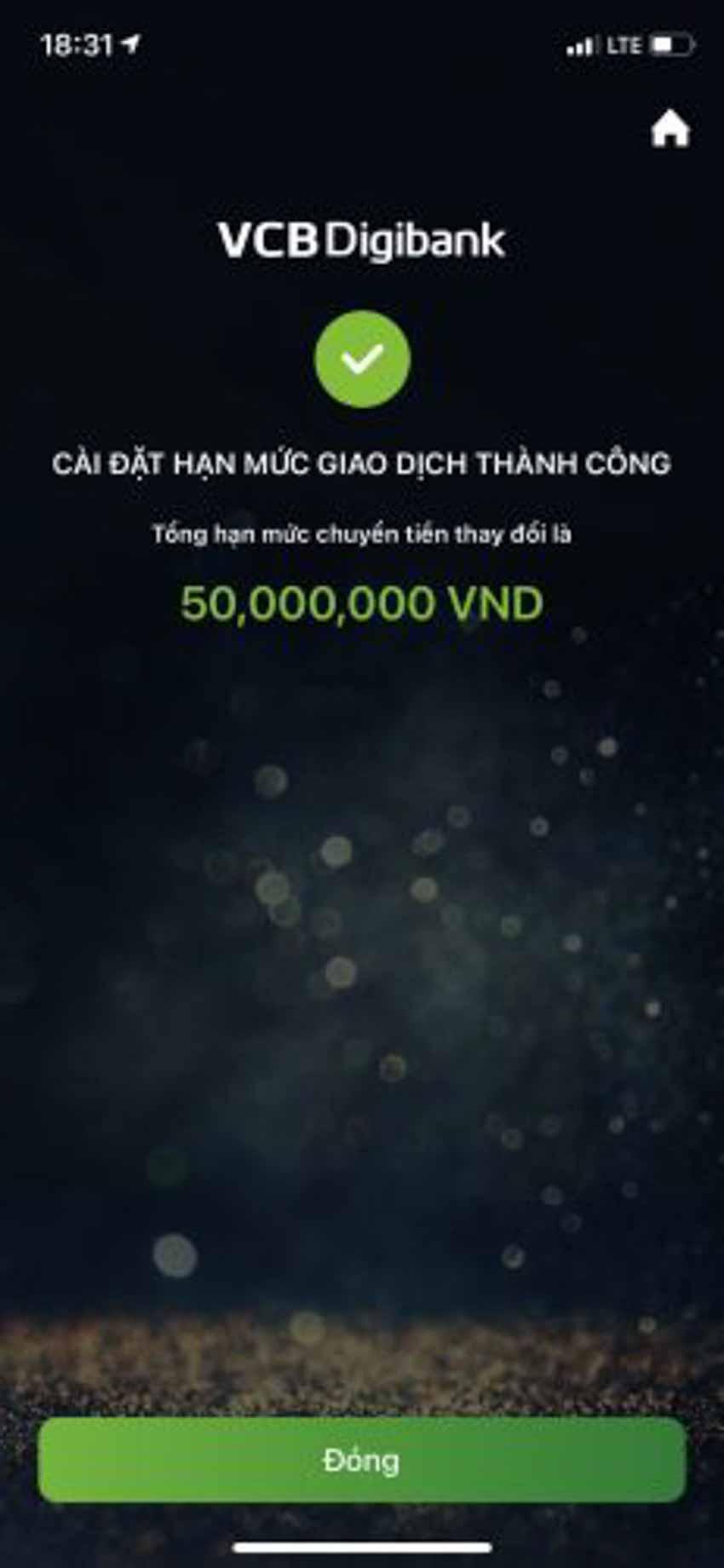 Hướng dẫn cách đổi hạn mức chuyển tiền Vietcombank - 5
