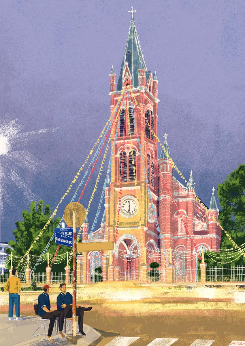 """Nhà Thờ Tân Định - the """"Pink Church"""""""