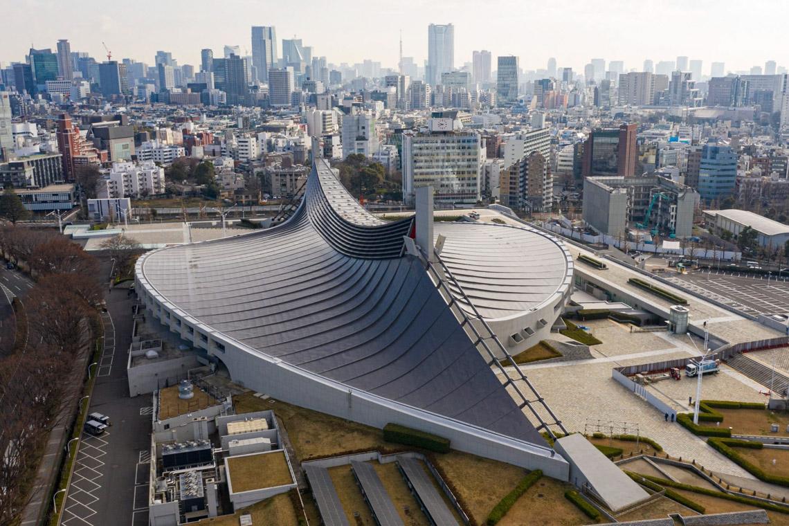 Sân vận động quốc gia Yoyogi của Kenzo Tange
