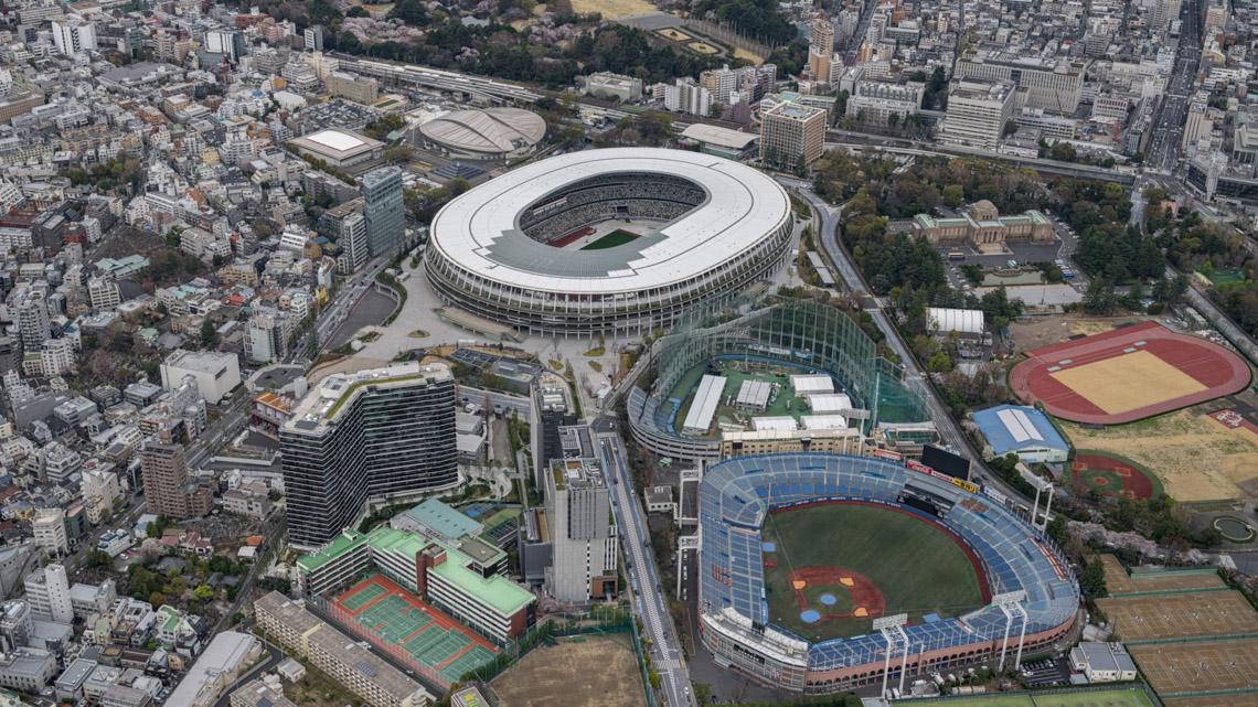 Sân vận động quốc gia ở Tokyo, Nhật Bản,