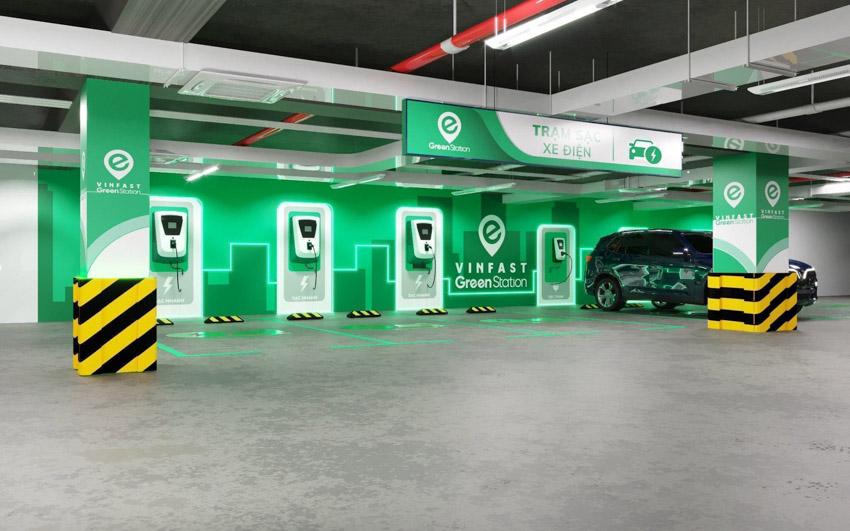 Một mô hình trạm thu phí tại các đô thị ở Việt Nam trong tương lai. Ảnh: Vinfast