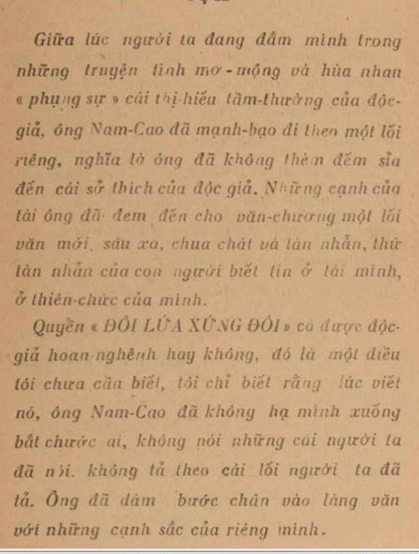 Viết lời tựa 'Đôi lứa xứng đôi' của Nam Cao: Lê Văn Trương 'dự báo' những gì? - 3