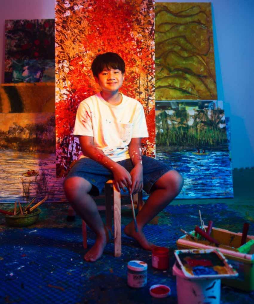 Xèo Chu – hoạ sĩ Việt Nam 14 tuổi kiếm nửa tỷ đồng từ một bức tranh NFT dạng mã hóa - 2
