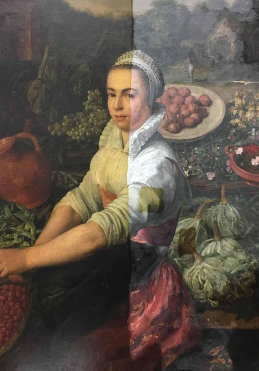 Vì sao cô bán rau trong tranh không cười nữa? - 2