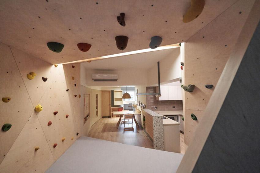 Di chuyển sân chơi cho con leo núi vào nhà khi cải tạocăn nhà cũ