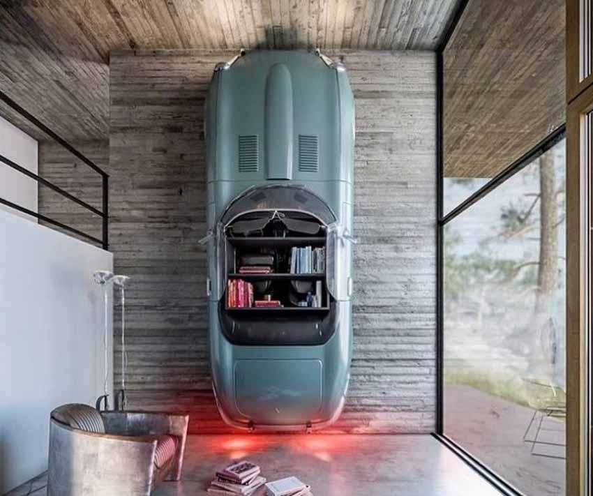 20 ý tưởng trang trí nội thất lấy cảm hứng từ ôtô dành cho người hâm mộ ôtô - 80