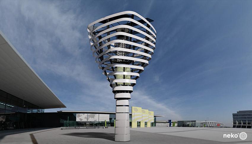Cây nhân tạo giúp thanh lọc không khí của các thành phố - 2