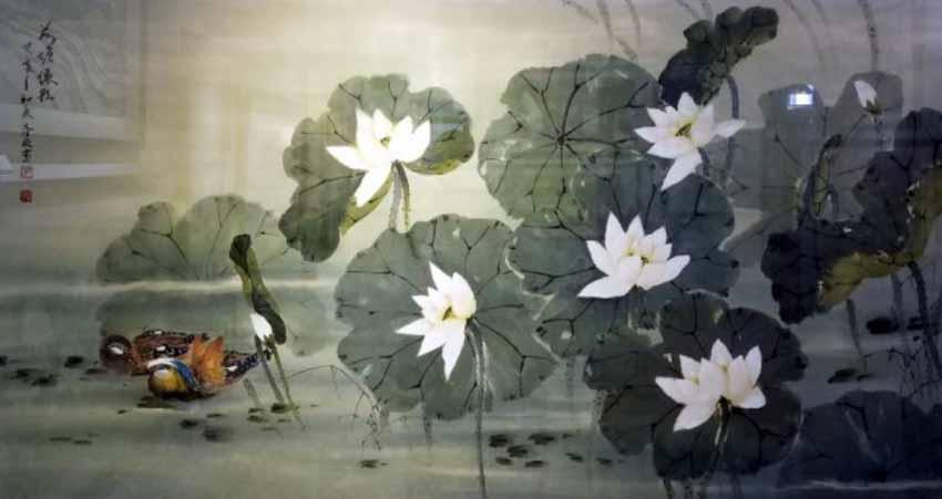 Họa sĩ Trương Hán Minh - đóa sen ngời trong dòng tranh thủy mặc - 6