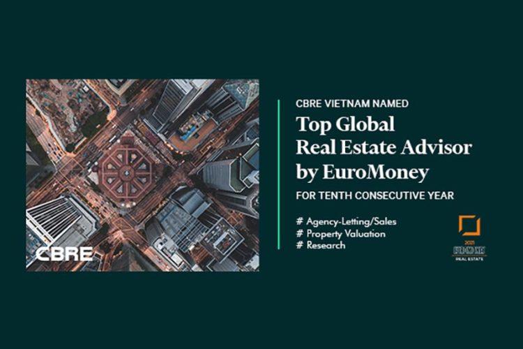 CBRE Việt Nam được vinh danh tại giải thưởng Euromoney lần thứ 10 liên tiếp